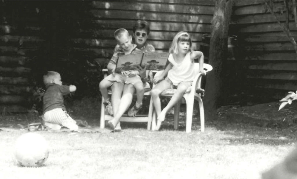 My brother, me, my mother, my sister. My dad took the picture.