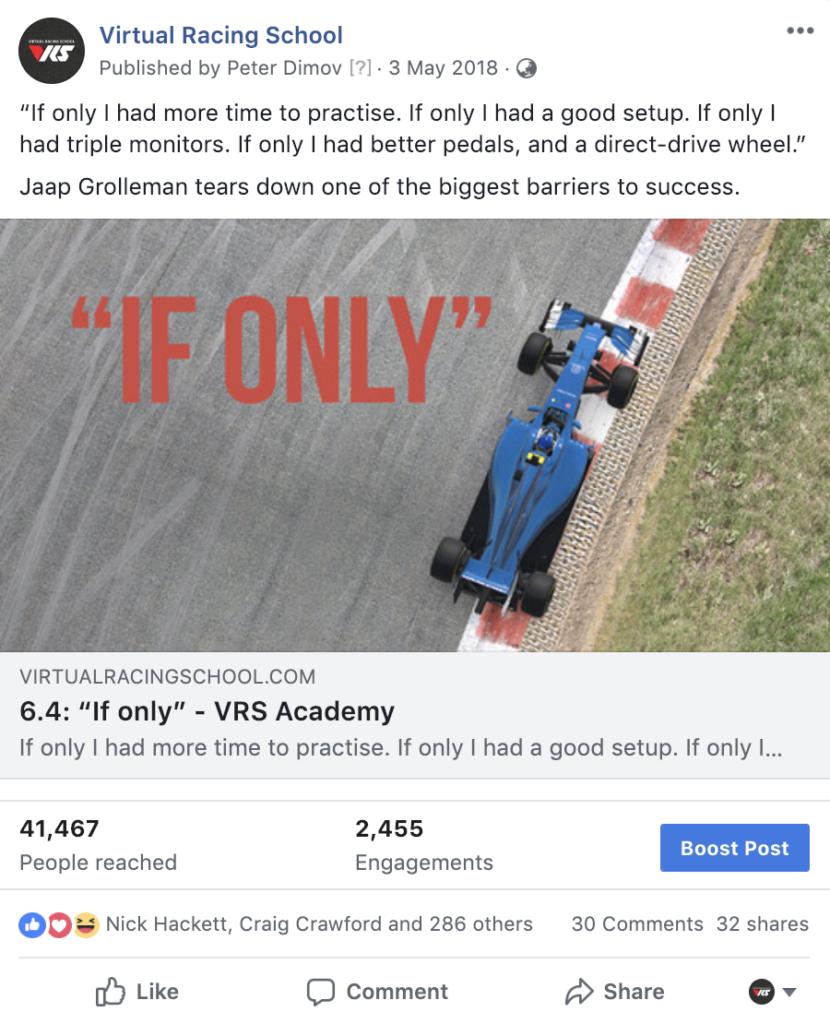Virtual Racing School - Jaap Grolleman